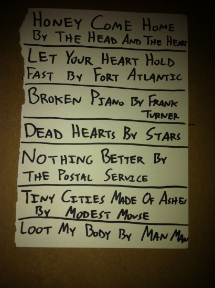Allyson's Setlist